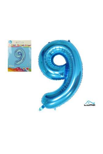 Balónek fóliový modrý 43cm č.9