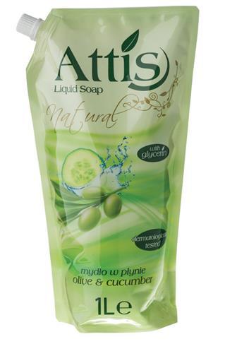 Attis oliva & okurka tekuté mýdlo náhradní náplň 1 l