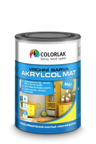 Colorlak Akrylcol mat V2045 2880 hnědá kaštan 0,6 l