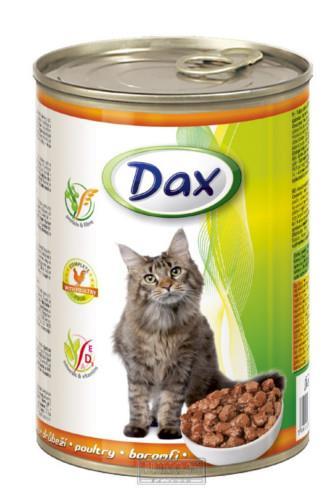 Dax drůbeží krmivo pro kočky 415g