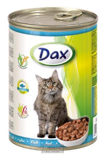 Dax kousky ryba krmivo pro kočky 415 g