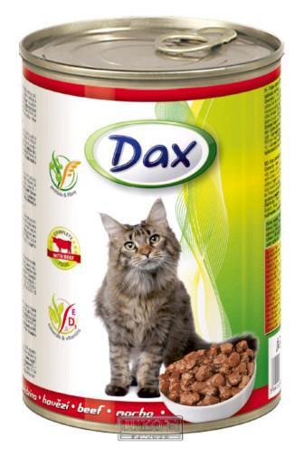 Dax kousky hovězí krmivo pro kočky 415 g