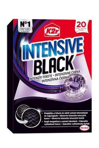K2r Intenzivní černá ubrousky 20 ks