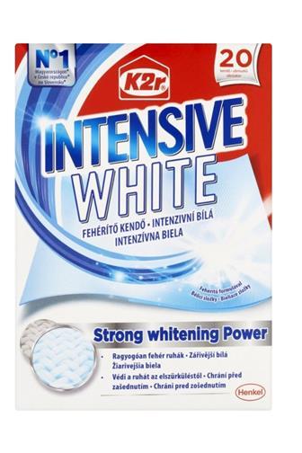 K2r Intenzivní bílá ubrousky 20 ks