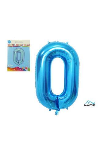 Balónek foliový modrý 43cm č.0
