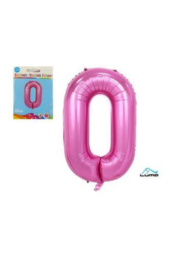 Balónek foliový růžový 43cm č.0