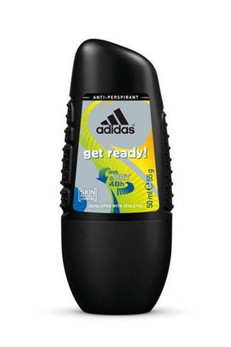 Adidas get ready! men antiperspirant roll-on 50 ml