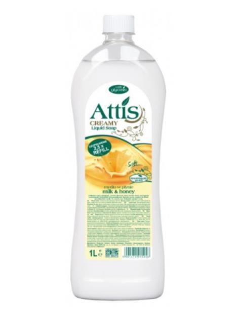 Attis Creamy Milk & Honey tekuté mýdlo 1l