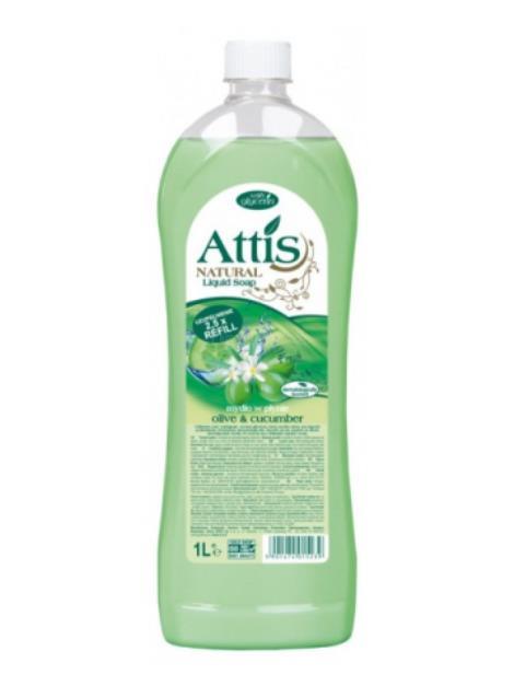 Attis Olive & Cucumber tekuté mýdlo 1l