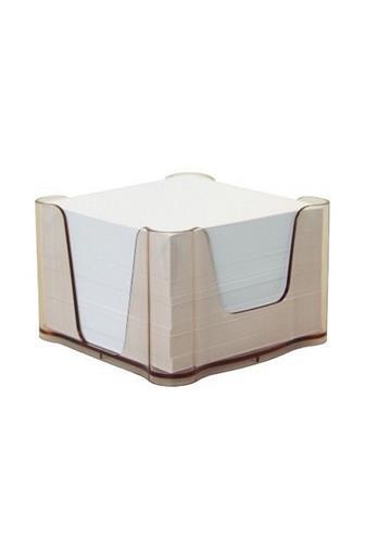 Blok kostka box plný transparentní hnědý