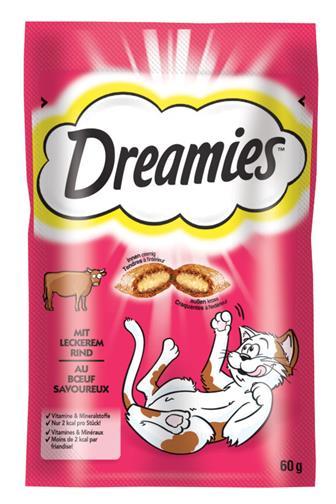 Dreamies polštářky s hovězím 60g