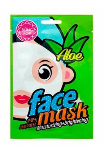 Bling Pop Aloe pleťová maska hydratační & rozjasňující 20 ml
