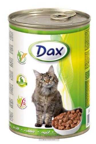 Dax kousky králík krmivo pro kočky 415 g