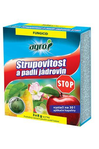 Agro Stop Strupovitost a padlí jádrovin 3 x 8 g