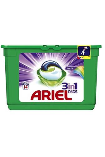 Ariel 3v1 Color gelové kapsle 14 ks