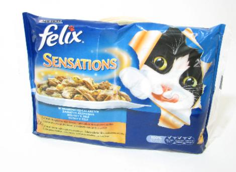 Felix Sensations mix 2x losos + 2x treska 100 g