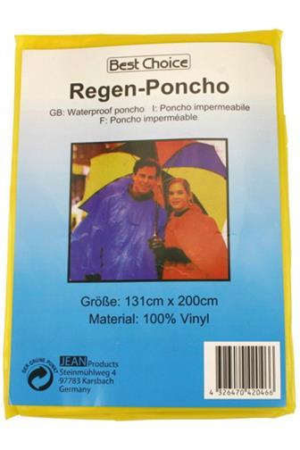 Pláštěnka - Pončo 100% vinyl 131 x 200 cm