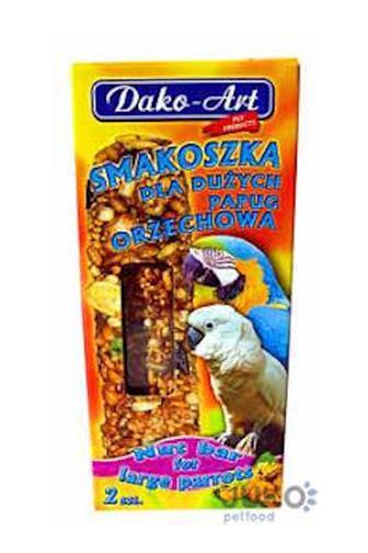 Dako-Art tyčinka pro velké papoušky ořech 2 ks