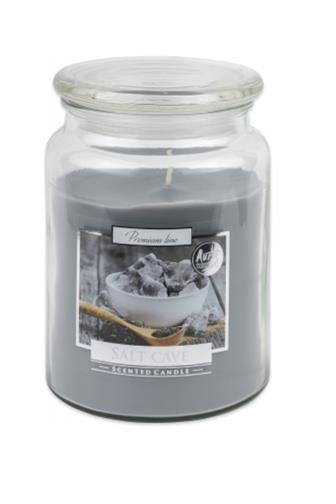 Bispol Aura svíčka vonná sklo Salt Cave 500 g