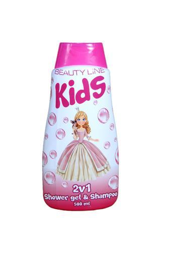 Beauty Line Kids Princess sprchový gel & šampon 2v1 500 ml
