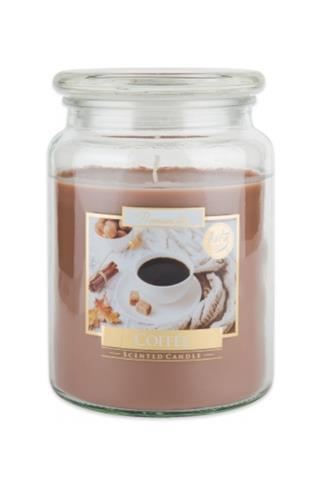Bispol Aura svíčka vonná sklo Coffee 500 g