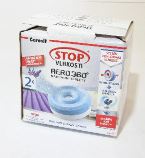 Ceresit Stop vlhkosti Aero 360 levandule náhradní tablety 2 x 450g