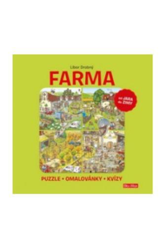 Farma puzzle-omalovánky