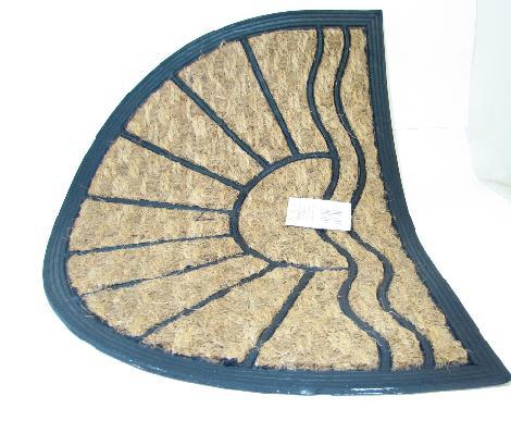 Rohož Exotic guma-kokos půlkruh 40x60cm