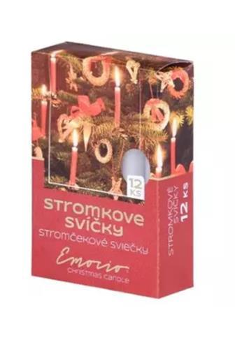 Stromkové svíčky metal zlaté č.30796 12 ks