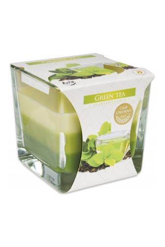 Bispol Aura svíčka vonná sklo zelený čaj 170 g