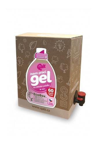 Qalt Jsem prací gel na dětské prádlo 60 dávek 3 l