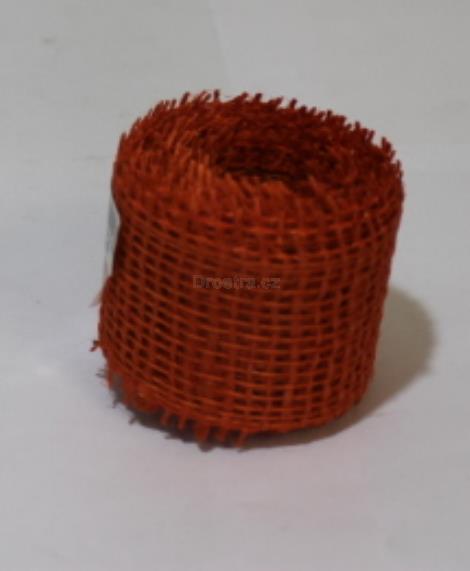Jutová stuha 4cm x 3m oranžová