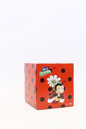 Beruška papírové kapesníčky 2 vrstvý box 80 ks