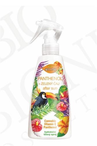 Bione Cosmetics Panthenol + Zelený čaj sprej po opalování 260 ml