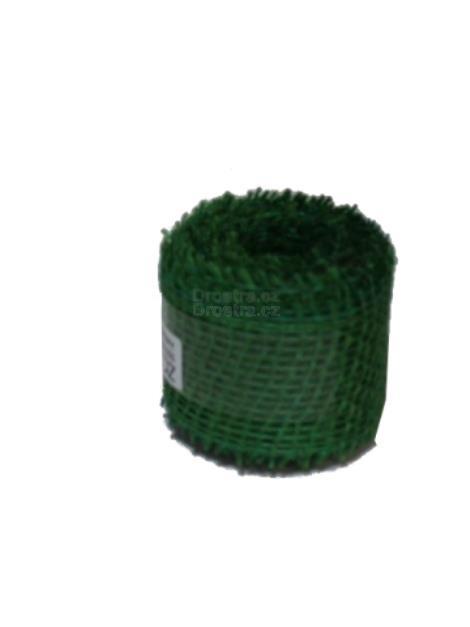 Jutová stuha 4cm x 3m tmavě zelená