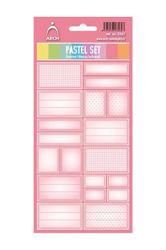 Samolepící etikety Pastel set
