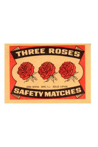 Zápalky Solo Three roses 55 mm 60 ks