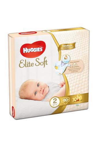 Huggies Elite Soft 2 4-6kg 80 ks