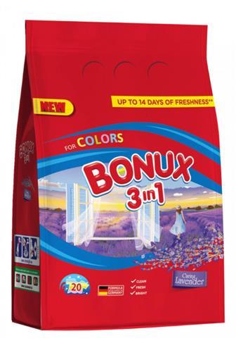 Bonux 3v1 color Levandule prací prášek 20 dávek 1,5 kg