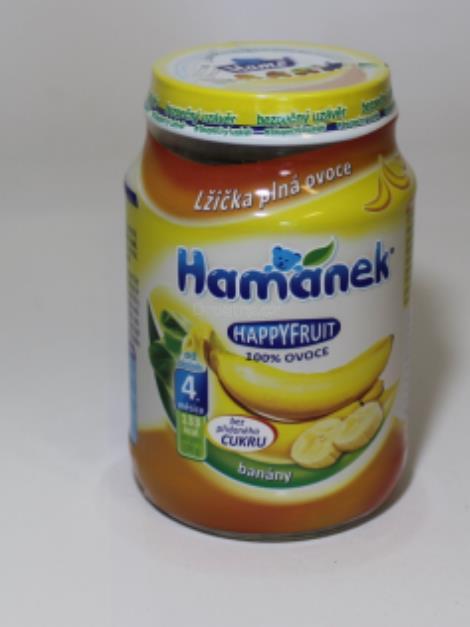 Hamánek 100% ovoce banány od 4měs. 190g