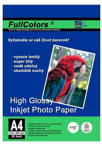Europen fotopapír A4 180g 20 listů lesklý
