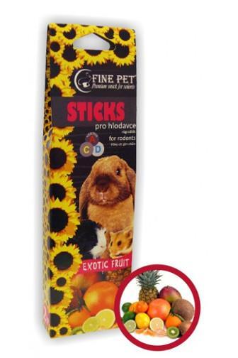 Fine Pet Sticks Exotic Fruit pro hlodavce 2 ks