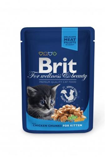 Brit Premium Cat kapsa Kitten kuřecí 100g
