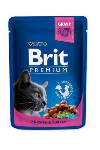 Brit Premium Cat kapsa krocan a kuře 100g