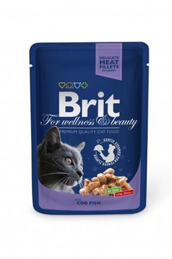 Brit Premium Cat kapsa treska v omáčce 100 g
