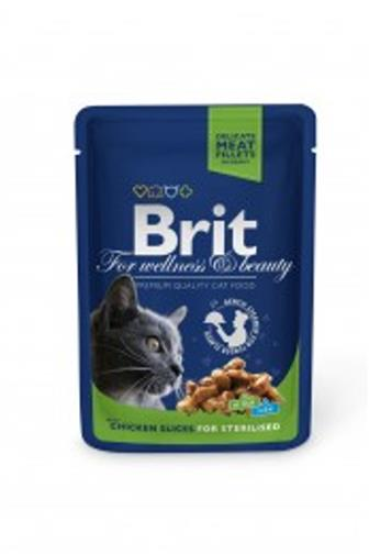 Brit Premium Cat kapsa Sterilised kuřecí 100 g