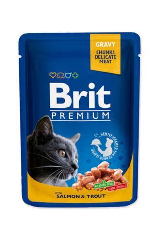 Brit Premium Cat kapsa losos a pstruh 100g