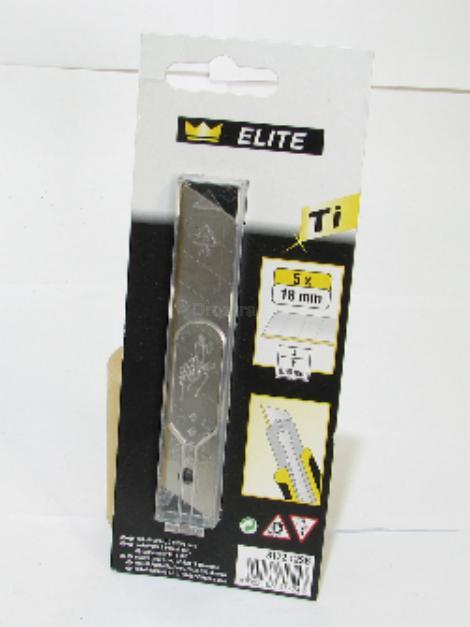 Odlamovací nůž náhradní 18mm Titan 5ks