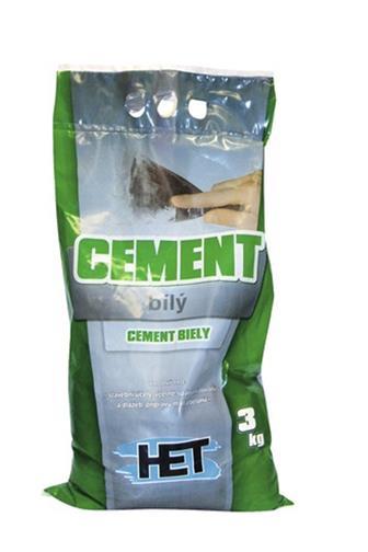 HET Cement bílý 3 kg