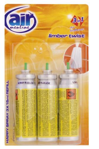 Air Menline happy spray Limber Twist náplň 3 x 15 ml